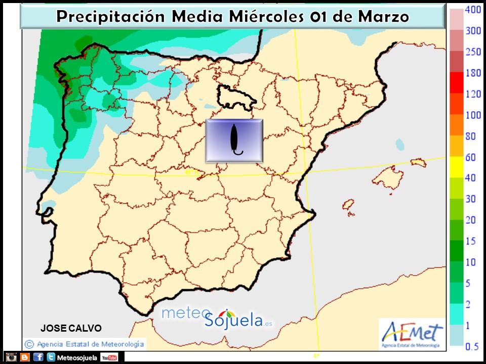 Mapa precipitacion. 01-03-2017. tiempo, larioja,logroño,josecalvo,meteosojuela