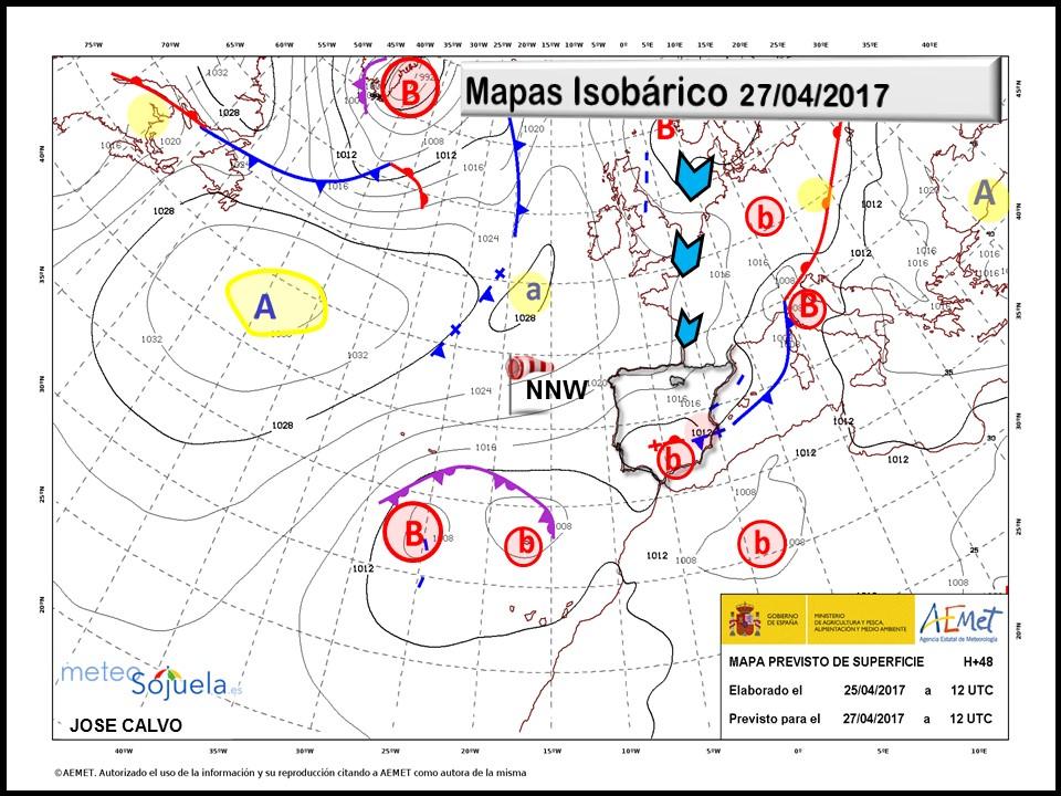 mapa isobárico tiempo logroñolarioja josecalvo meteosojuela