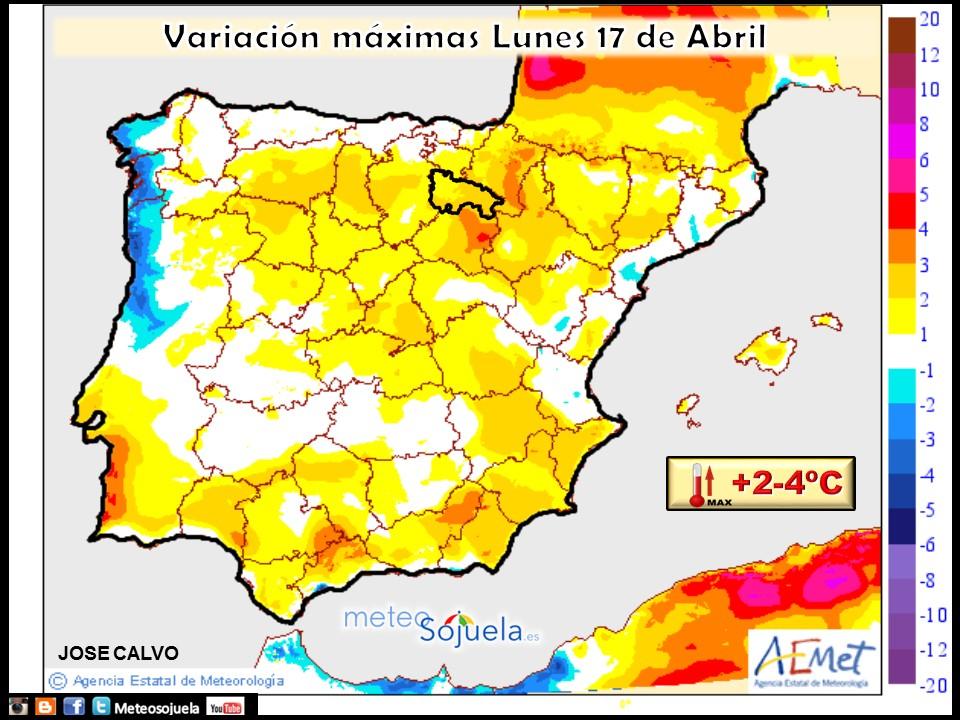 mapas temperaturas tiempo logroño larioja josecalvo meteosojuela