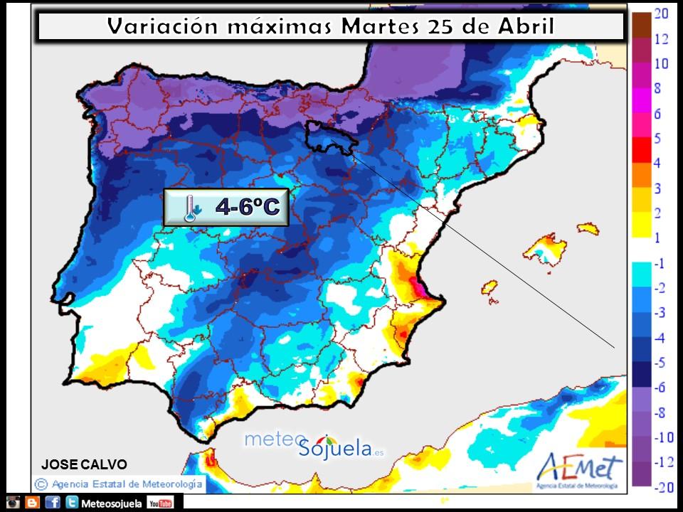 mapas temperaturas tiempo logroño larioja josecalvo meteosojuela meteo