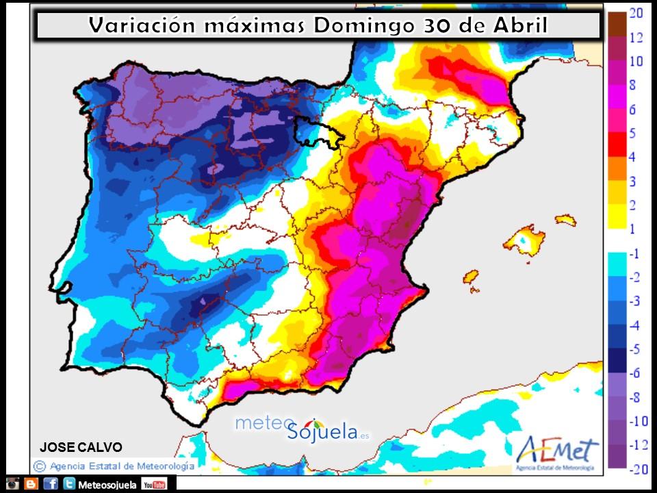 mapa temperatura tiempo logroño la rioja josecalvo meteosojuela