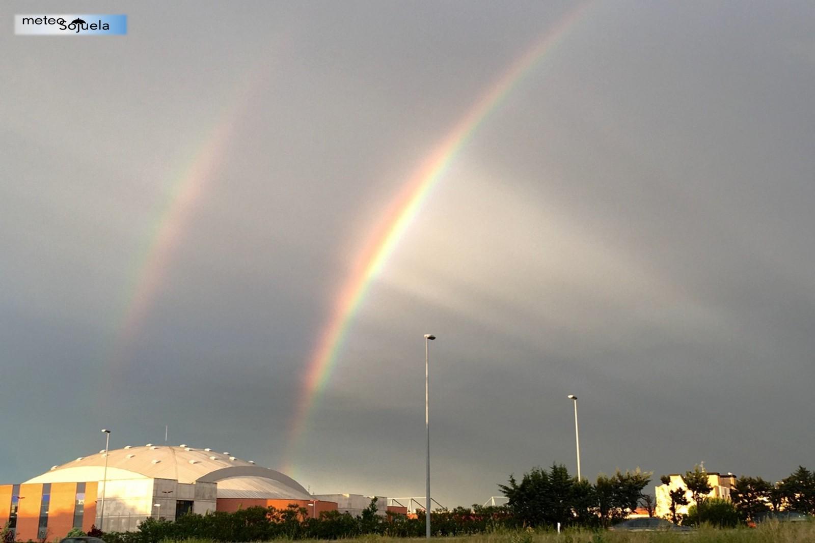 arcoiris doble arcoiris tiempo logroño la rioja