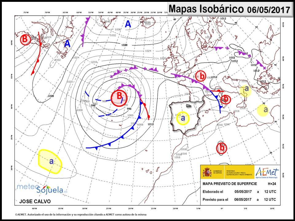 mapa isobarico tiempo logroño josecalvo meteosojuela