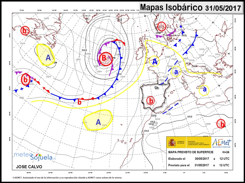 mapa isobarico tiempo logroño larioja meteosojuela josecalvo