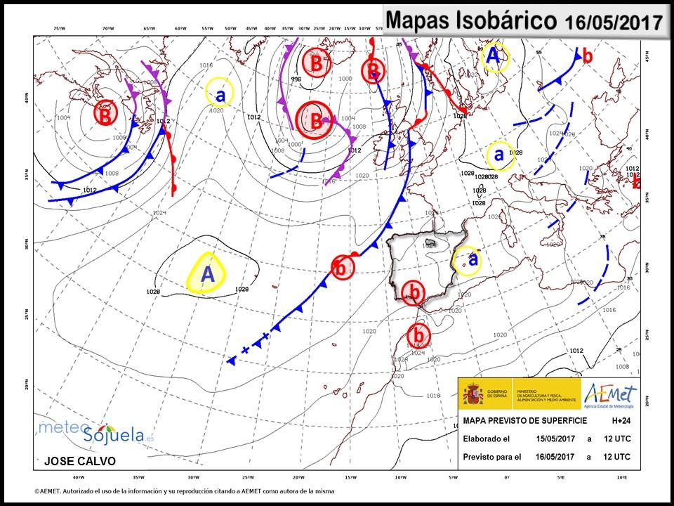 mapa isobarico tiempo logroño la rioja josecalvo meteosojuela