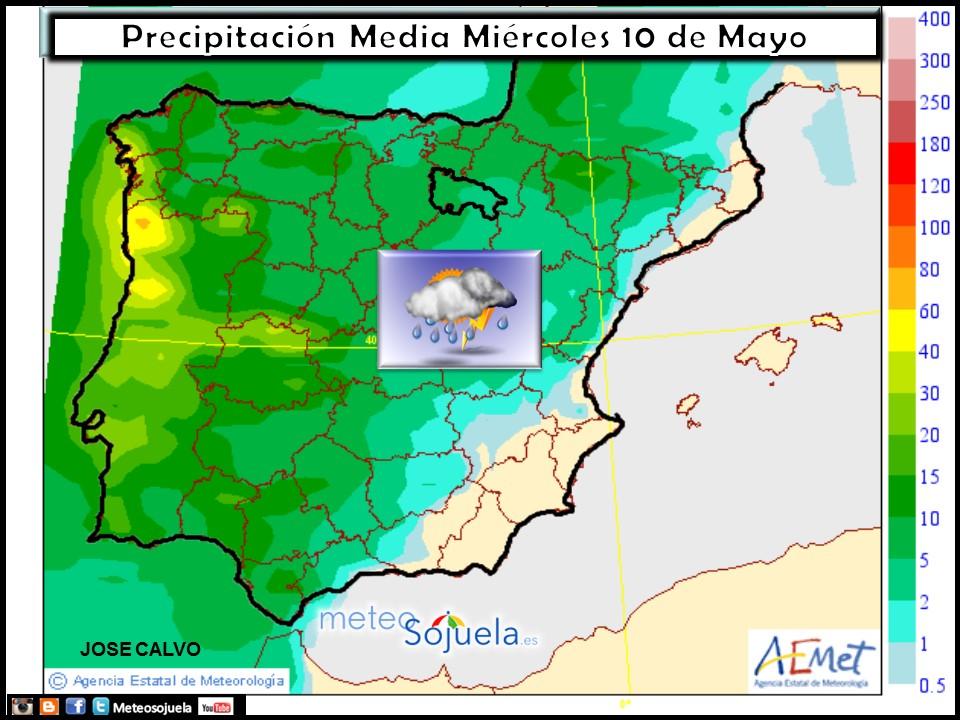 mapa precipitación tiempo logroño larioja josecalvo meteosojuela