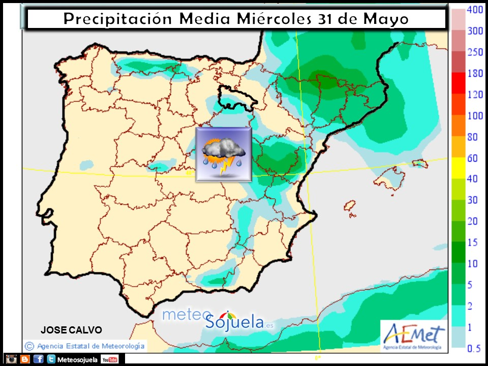 mapa lluvias tiempo logroño larioja meteosojuela josecalvo
