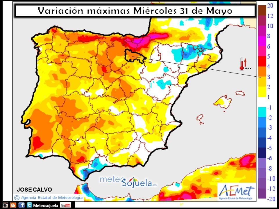 mapa temperaturas tiempo logroño larioja meteosojuela josecalvo