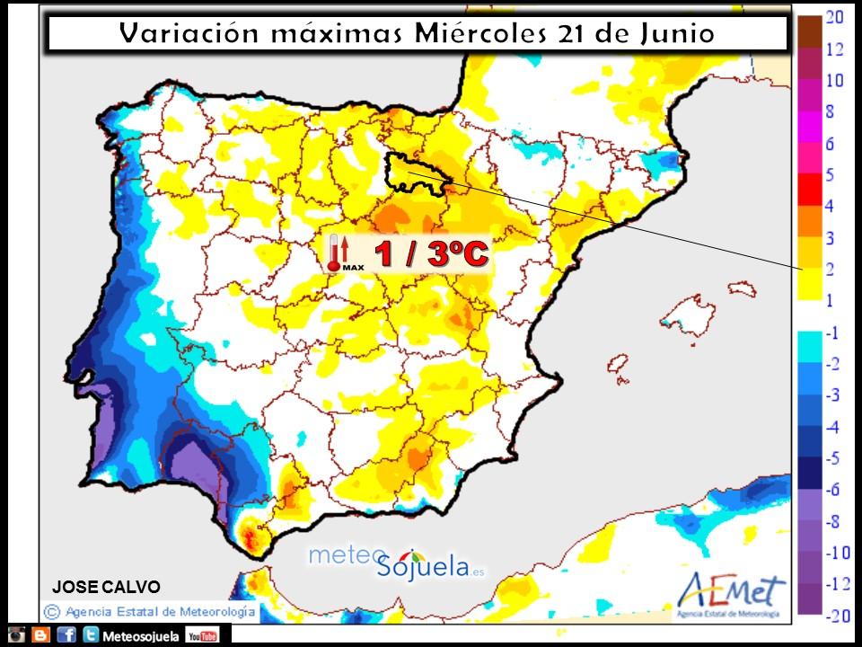 mapas temperaturas tiempo larioja josecalvo meteosojuela