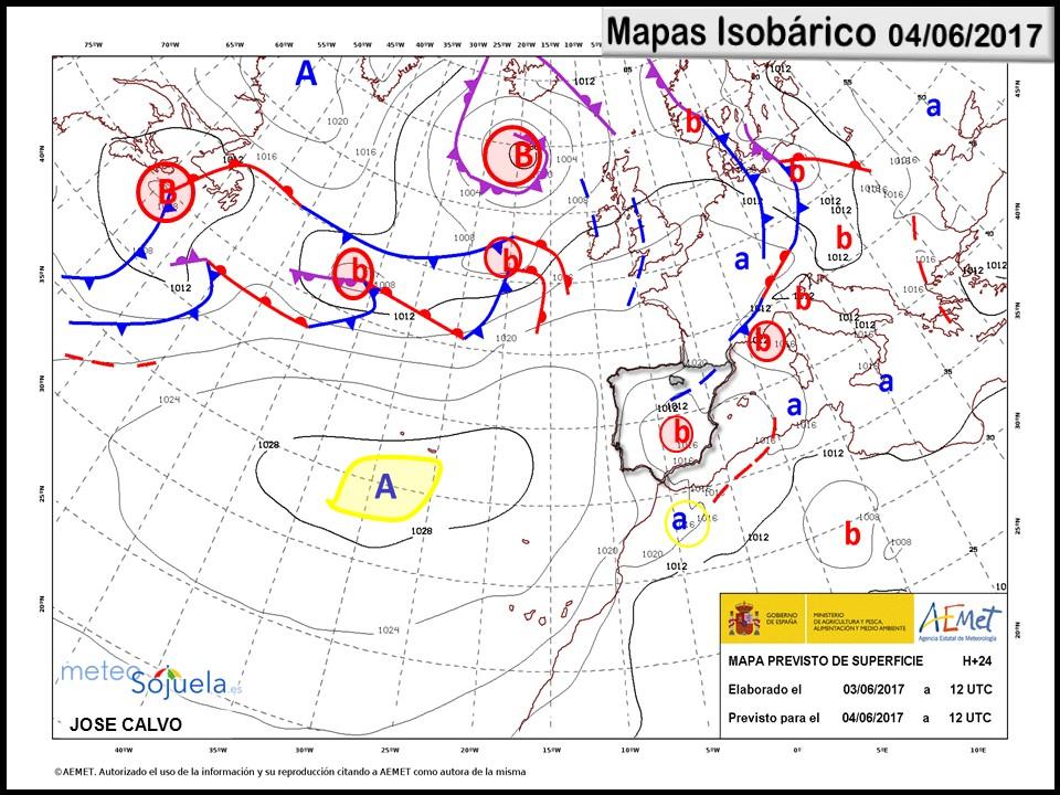 mapa isobarico tiempo logroño larioja