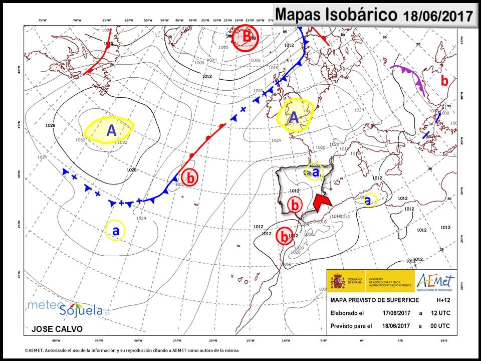 mapa isobarico tiempo larioja josecalvo meteosojuela
