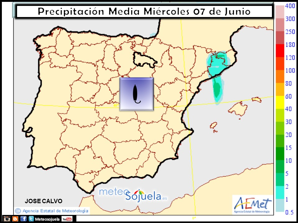 Mapa precipitación tiempo logroño larioja meteosojuela josecalvo