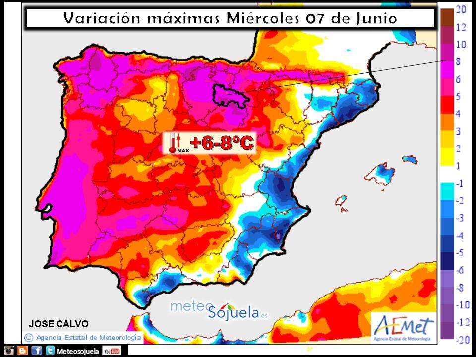 Mapa temperatura tiempo logroño larioja meteosojuela josecalvo