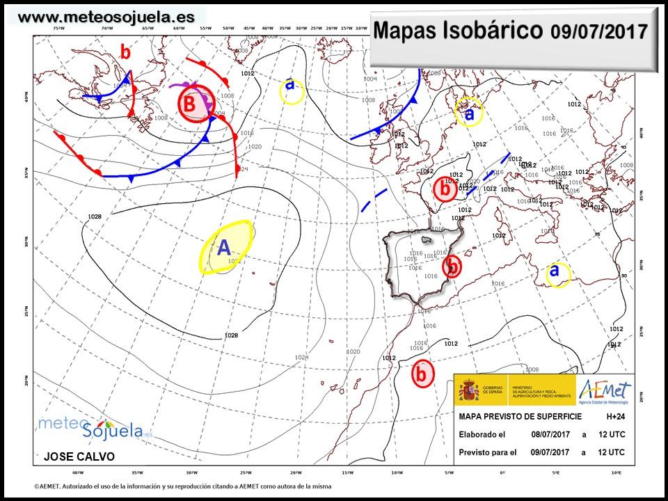mapa isobárico tiempo larioja josecalvo meteosojuela