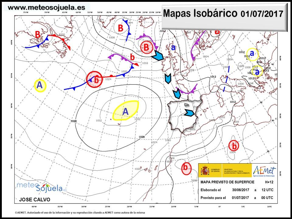 mapa isobarico tiempo logrono larioja josecalvo meteosojuela
