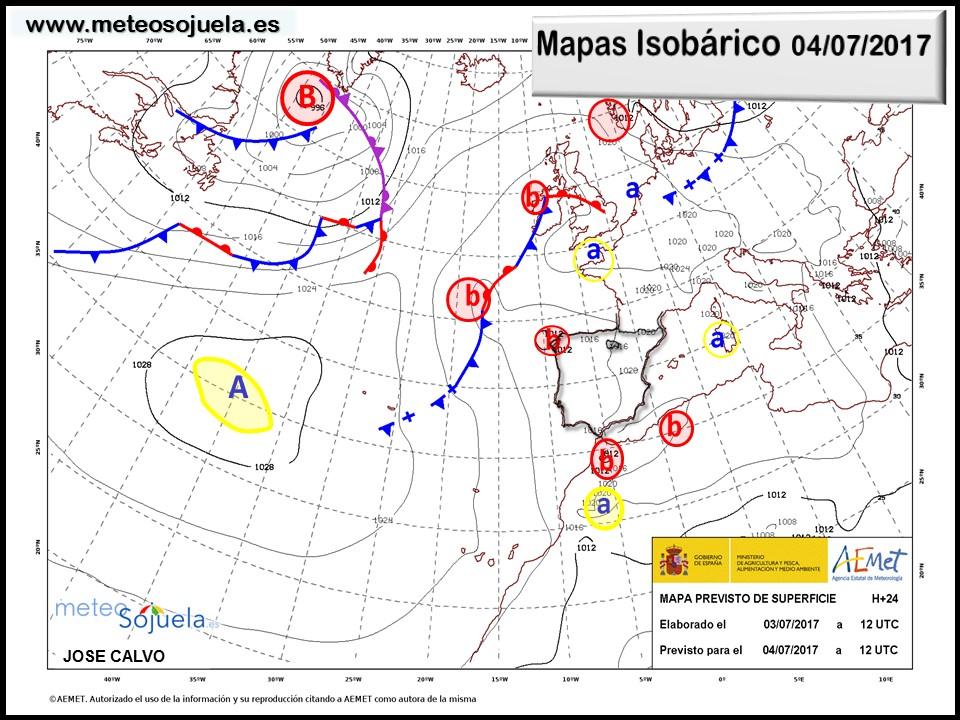 mapa isobarico josecalvo larioja tiempo meteosojuela