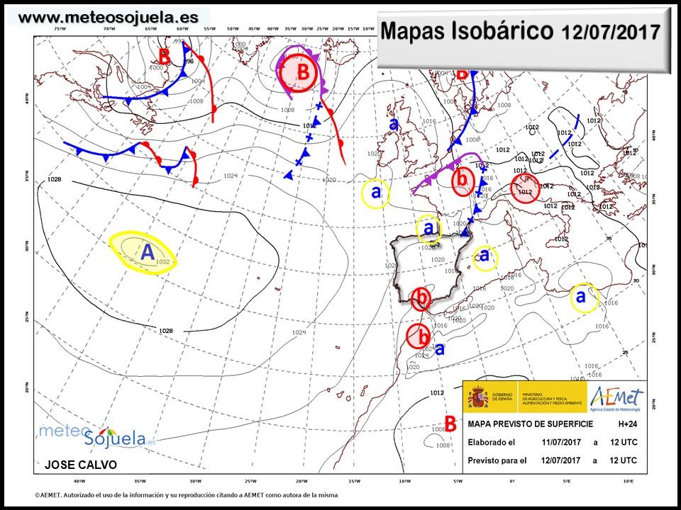 mapas isobaricos tiempo larioja  josecalvo meteosojuela