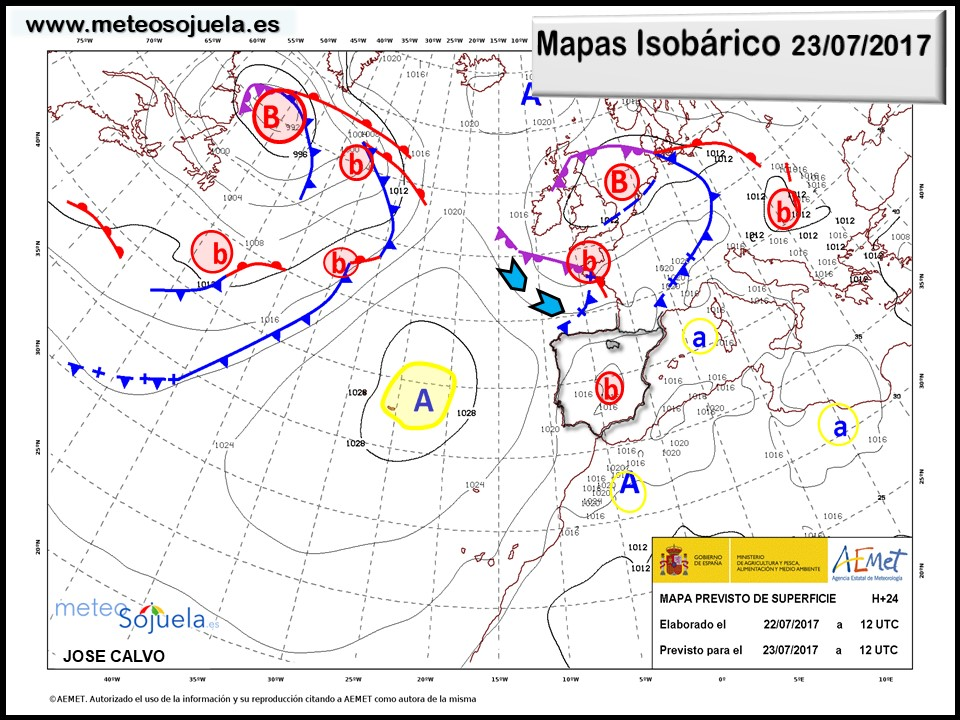 mapa isobarico meteo tiempo larioja josecalvo meteosojuela
