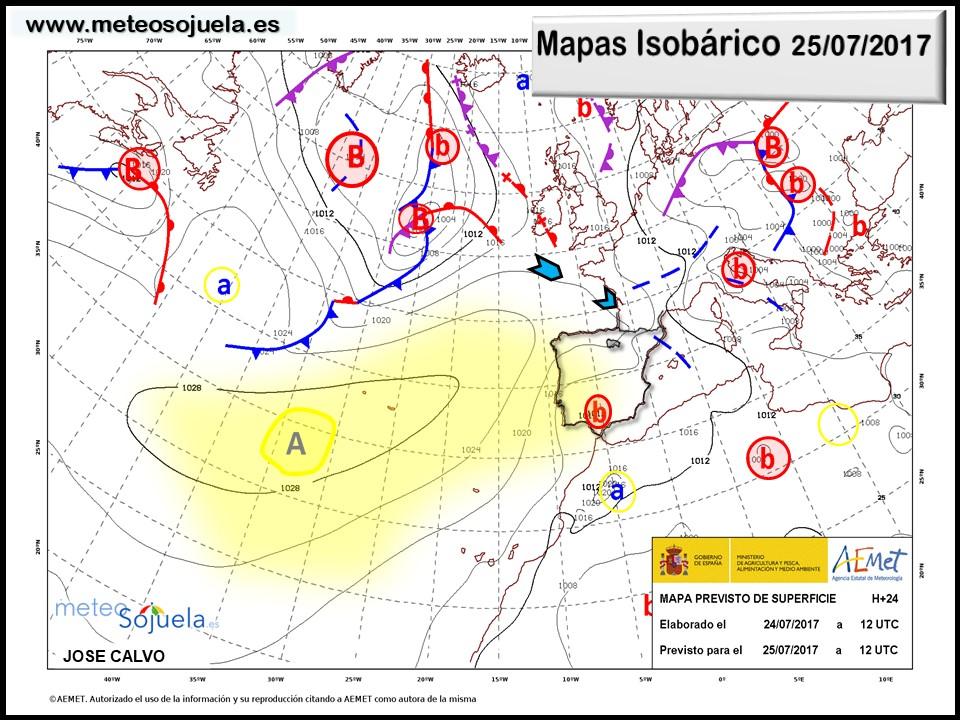 tiempo larioja mapa isobarico meteo josecalvo meteosojuela