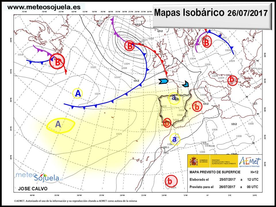 tiempo larioja mapa isobarico josecalvo meteosojuela meteo
