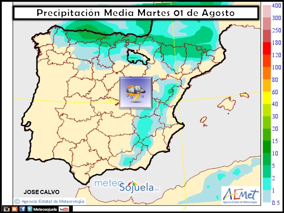 mapa precipitacion tiempo meteo logroño larioja josecalvo meteosojuela
