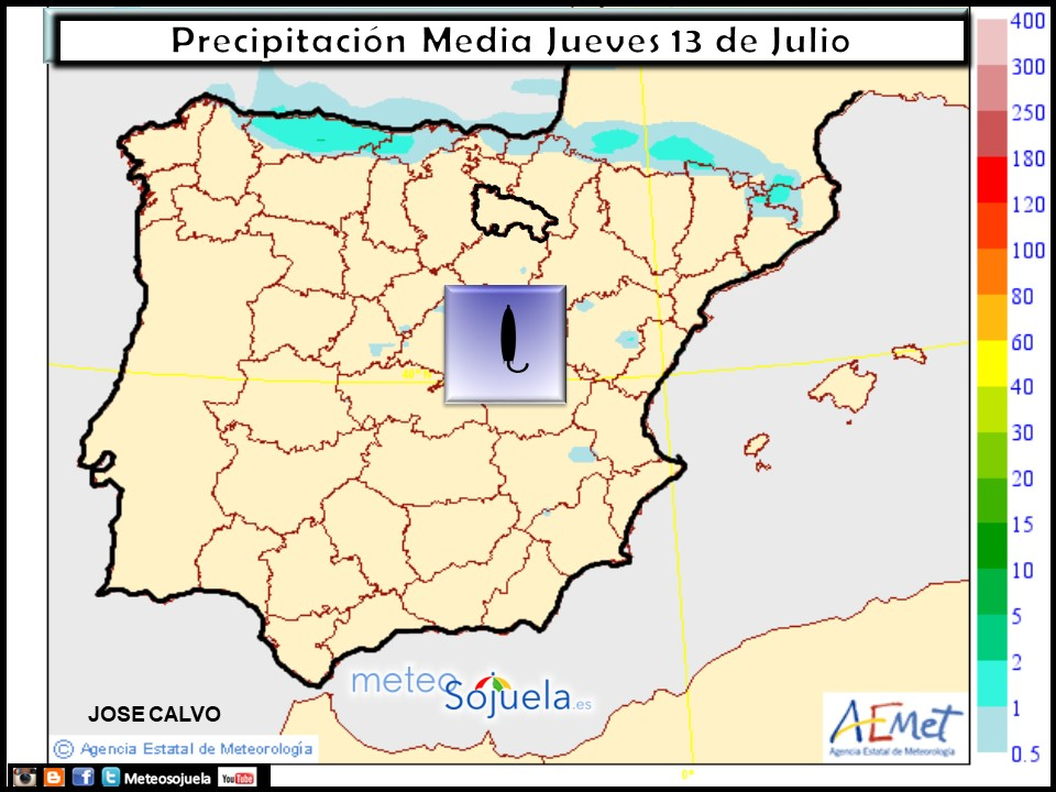mapa precipitaciones tiempo larioja josecalvo meteosojuela