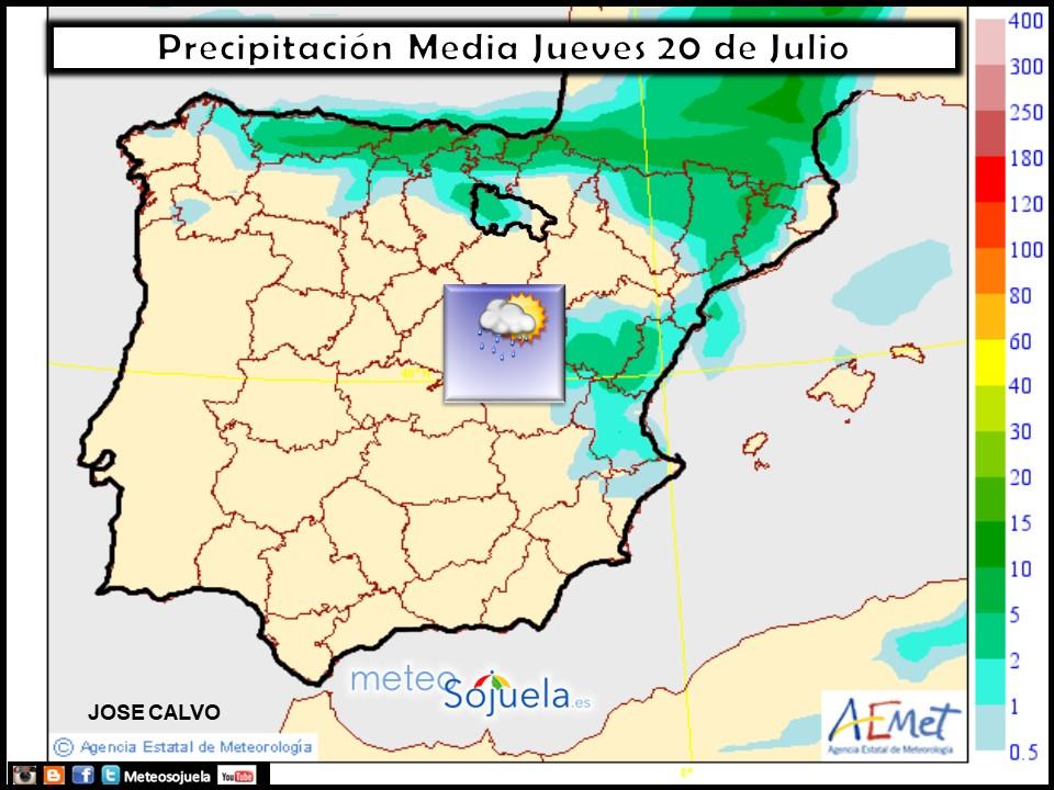 mapa lluvia meteo tiempo larioja josecalvo meteosojuela