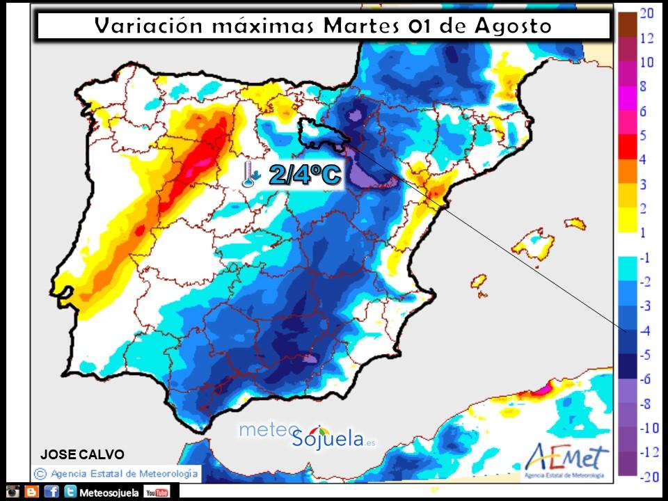 mapa temperatura tiempo meteo logroño larioja josecalvo meteosojuela