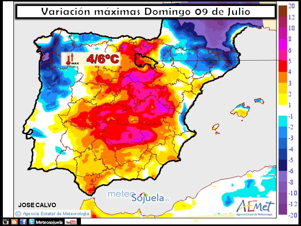 mapa temperaturas tiempo larioja josecalvo meteosojuela