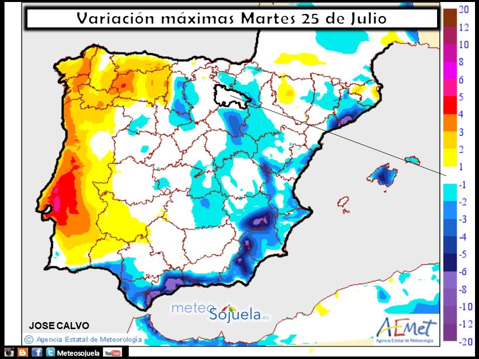 tiempo larioja mapa temperaturas meteo josecalvo meteosojuela