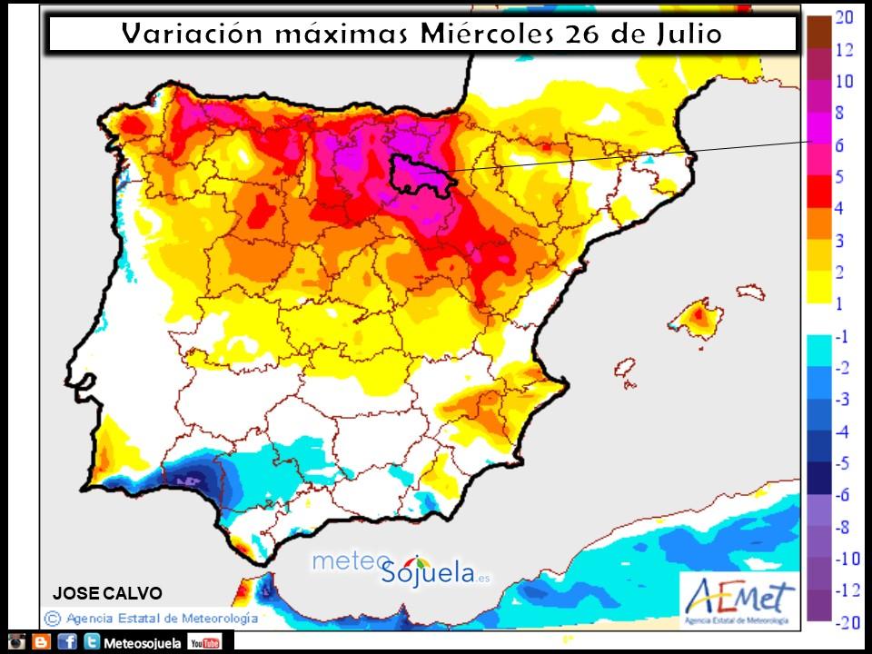 tiempo larioja mapa temperaturas meteosojuela josecalvo meteo