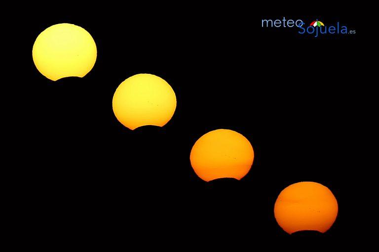 Secuencia eclipse de sol. 21/08/2018