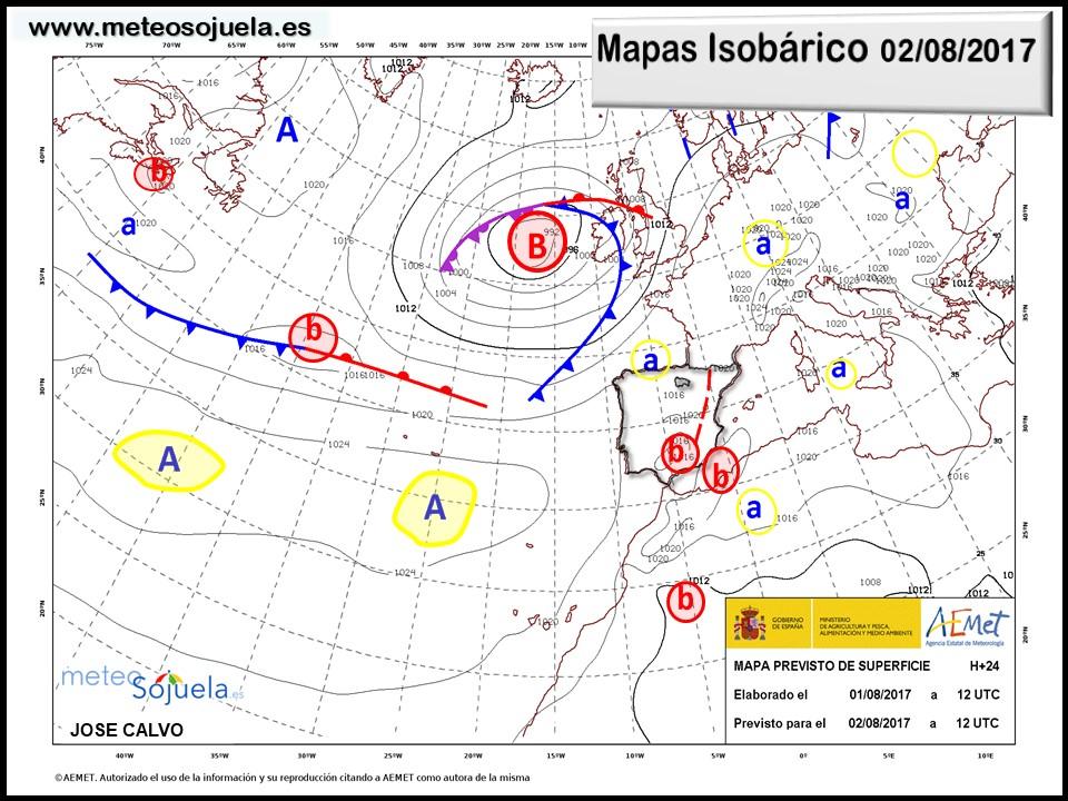 mapa isobarico larioja tiempo josecalvo meteosojuela meteo