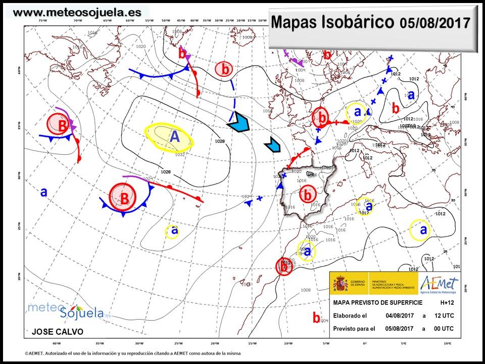 tiempo larioja,mapa isobarico,meteo, meteosojuela,josecalvo