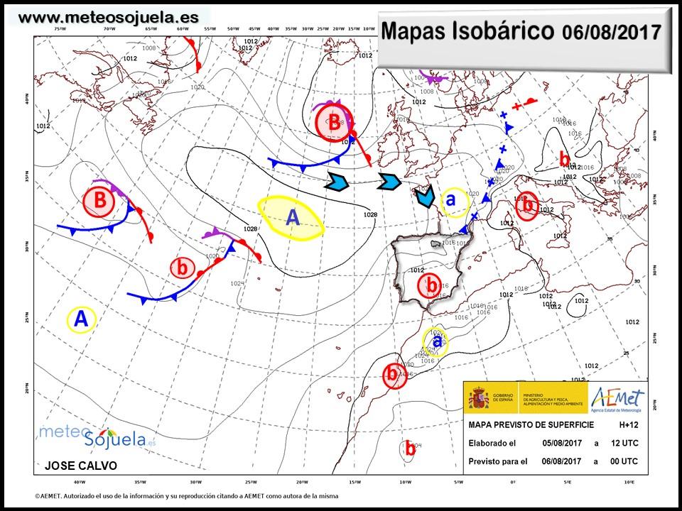 Mapa isobárico, meteo, meteorologia, tiempo, larioja, logroño josecalvo, meteosojuela