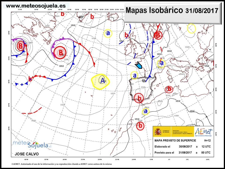 tiempo,larioja,josecalvo,meteosojuela,mapa isobárico