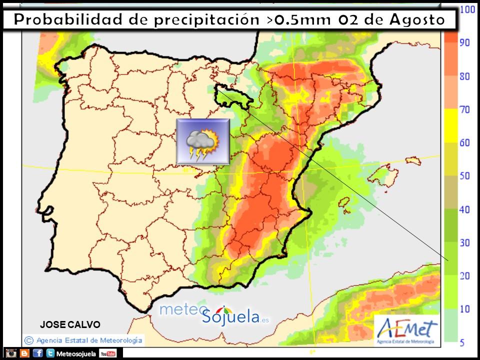 mapa precipitacion larioja tiempo josecalvo meteosojuela meteo