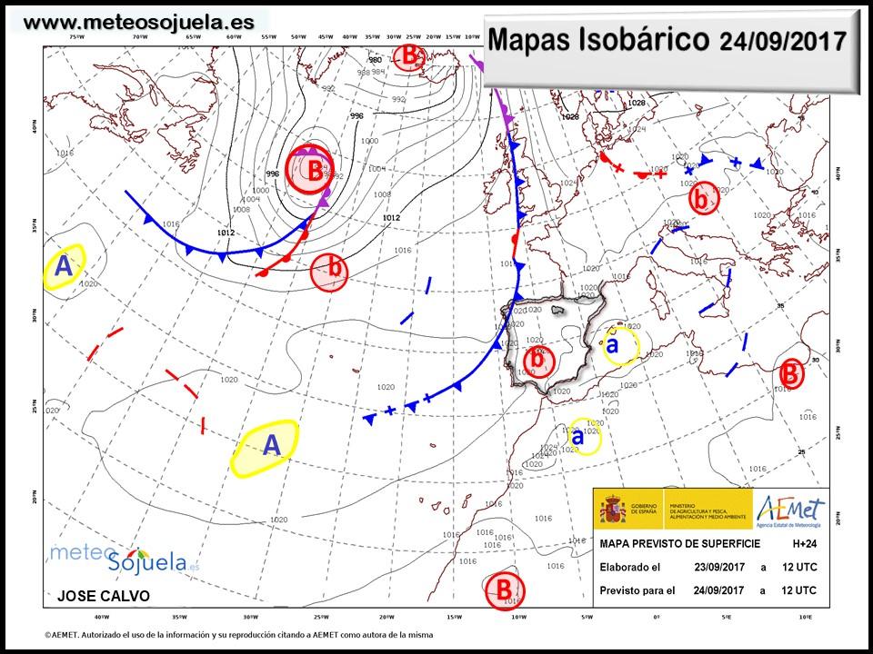 meteo,tiempo,larioja,logroño,josecalvo,meteosojuela,mapa isobarico