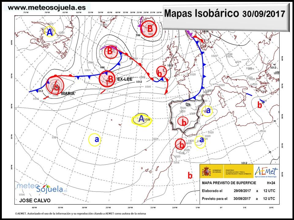 meteo, tiempo,josecalvo,meteosojuela,larioja mapas isobaricos