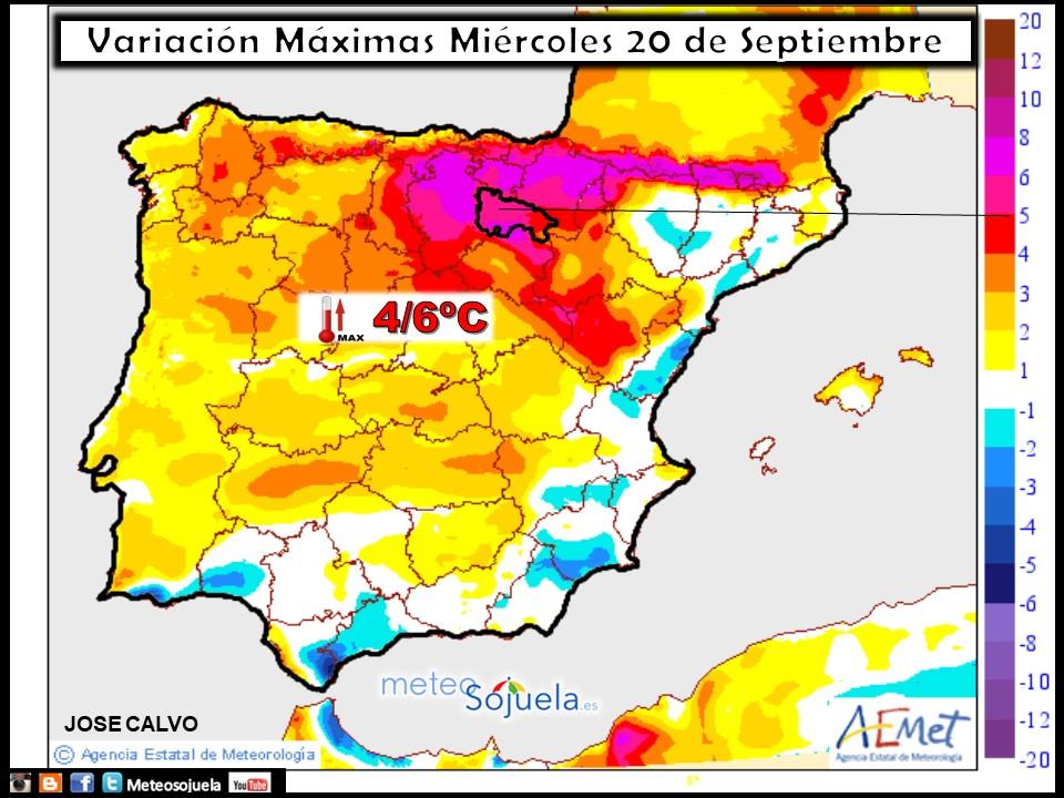 meteo tiempo,logroño,larioja,josecalvo,meteosojuela, mapa temperaturas