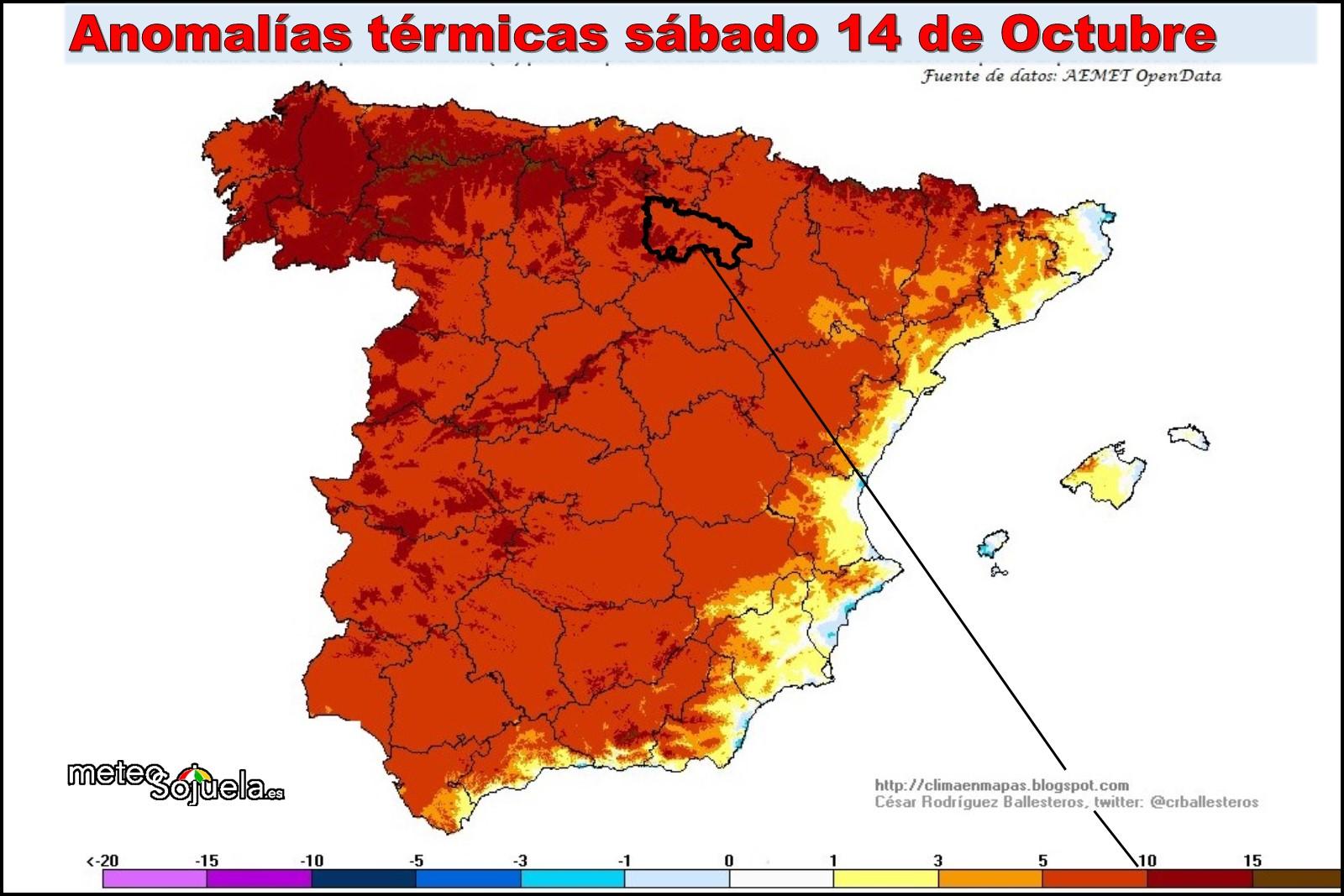 anomalía temperaturas máximas, tiempo,larioja,josecalvo,meteosojuela
