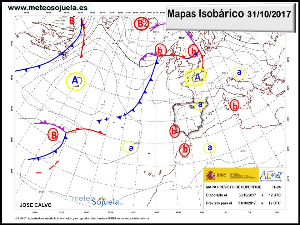 tiempo,hoy,larioja,josecalvo,meteosojuela, mapa isobarico