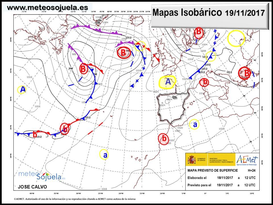 tiempo,hoy,larioja,josecalvo,meteosojuela,mapa isobarico