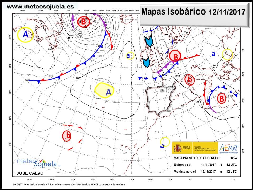 tiempo,hoy,larioja,meteosojuela,josecalvo,mapa isobarico
