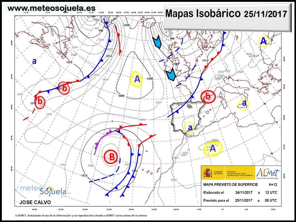 tiempo hoy larioja,josecalvo,meteosojuela, mapa isobarico