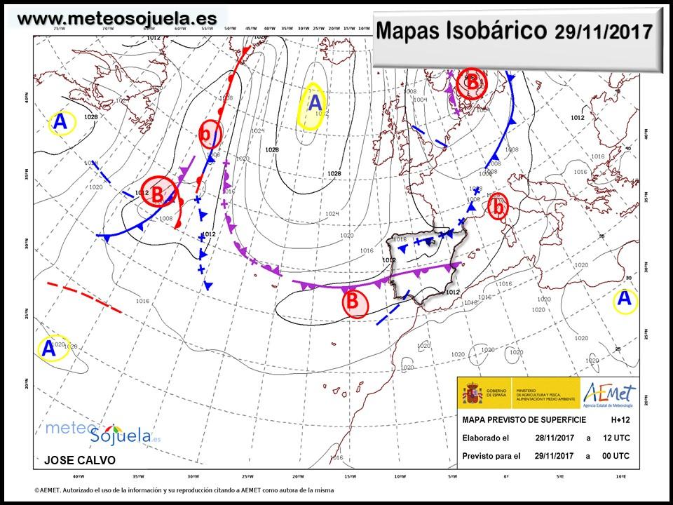 mapa isobarico, tiempo, hoy,larioja,josecalvo,meteosojuela