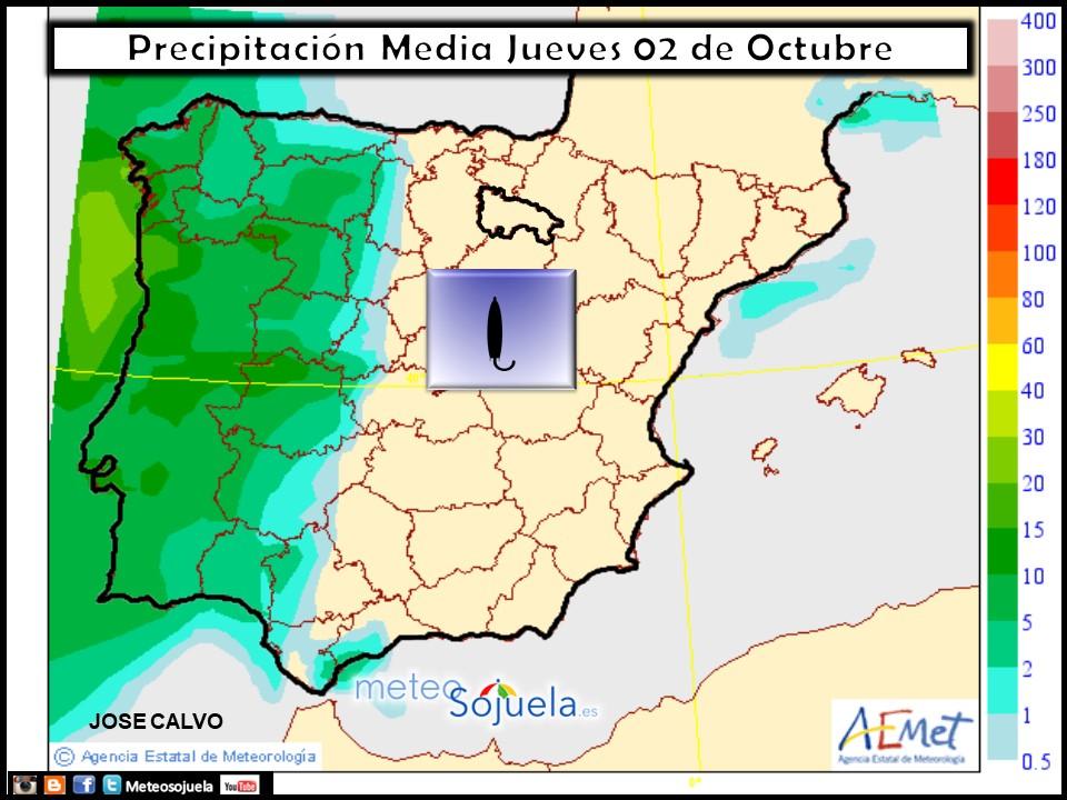 tiempo,hoy larioja josecalvo meteosojuela mapa lluvias