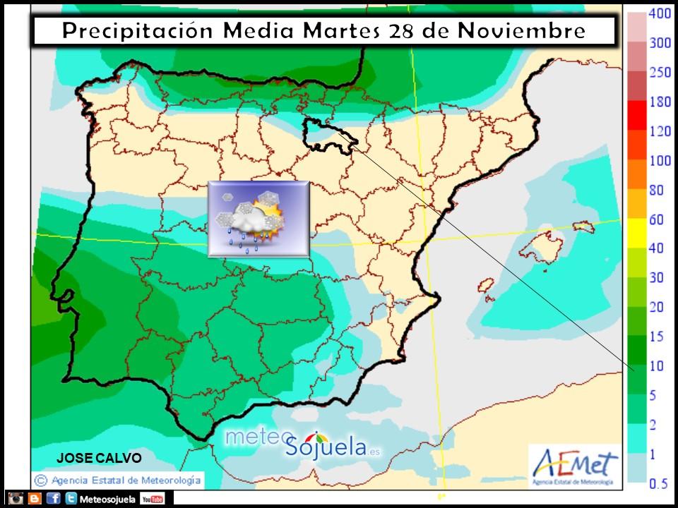 tiempo,hoy,larioja,josecalvo,meteosojuela,mapa precipitaciones