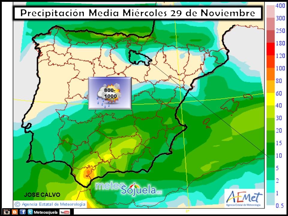 tiempo,hoy,larioja,josecalvo,meteosojuela, mapa precipitacion