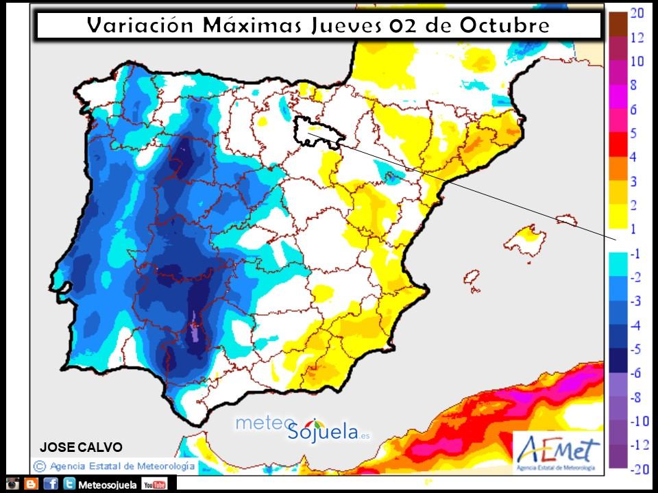 tiempo,hoy larioja josecalvo meteosojuela mapa temperaturas